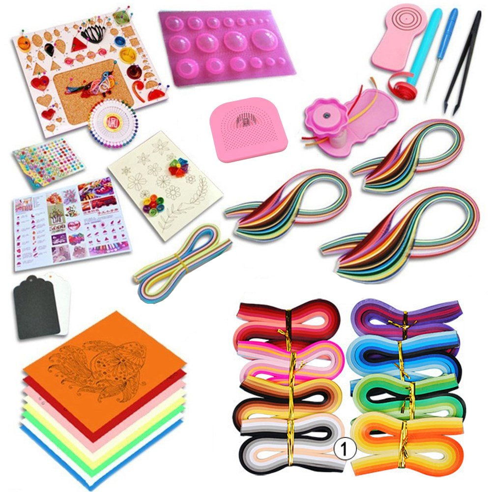 GHonG Quilling Paper Kits with Tools 36 colors 1560 Strips Board Mould Crimper Coach Comb DIY Set 4336889820