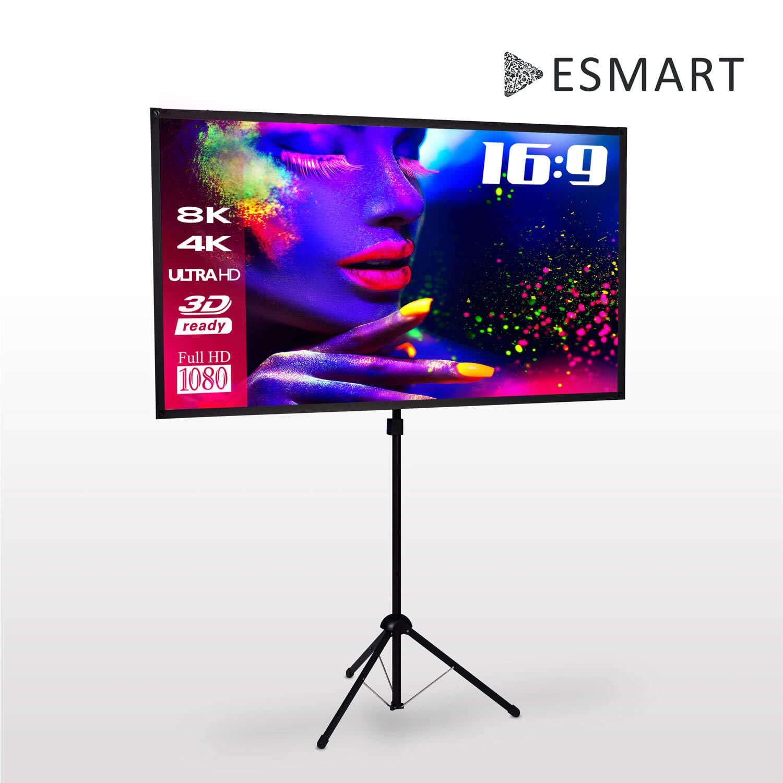 eSmart MISATI X-Type /Écran de tr/épied ultra-l/éger 177 x 100 16:9 montage rapide 80