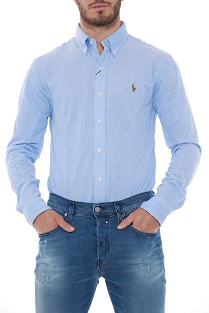Camisa Ralph Lauren Oxford Azul Claro Hombre