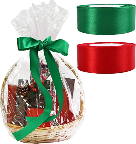 Aneco 10 Pack Christmas Clear Basket Bags Large Clear
