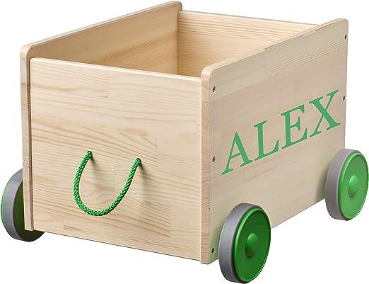 MUNDAZE Caja de juguetes personalizada para niños, organizador de juguetes, cubo de almacenamiento de juguetes personalizado, para el coche, regalo para niños pequeños: Amazon.es: Juguetes y juegos