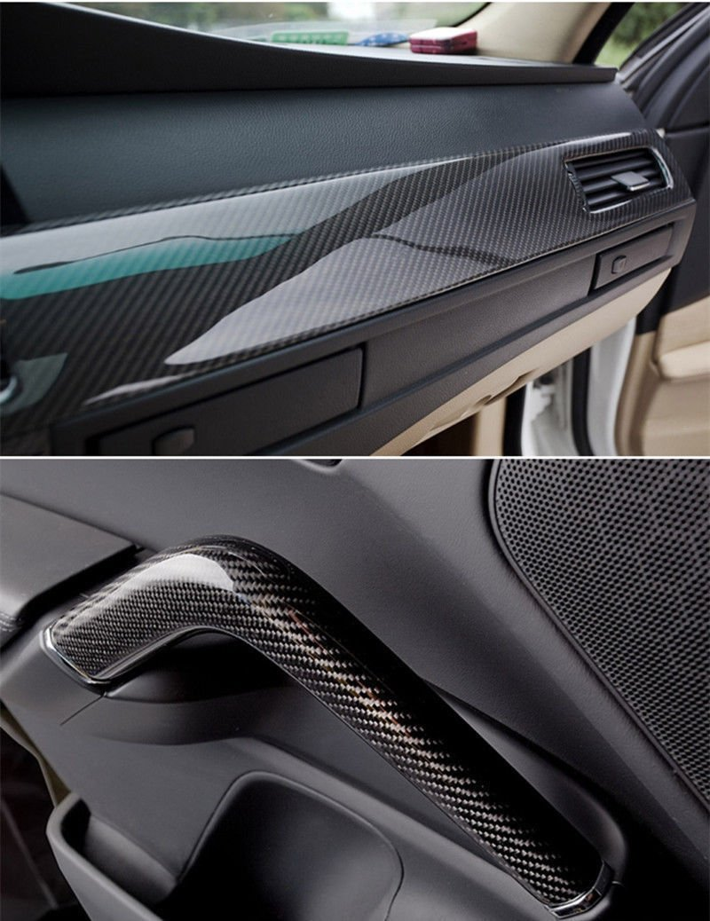 "12x60/"" 5D Car Black Sticker Carbon Fiber Vinyl Ultra Shiny Gloss Glossy Wrap DIY"