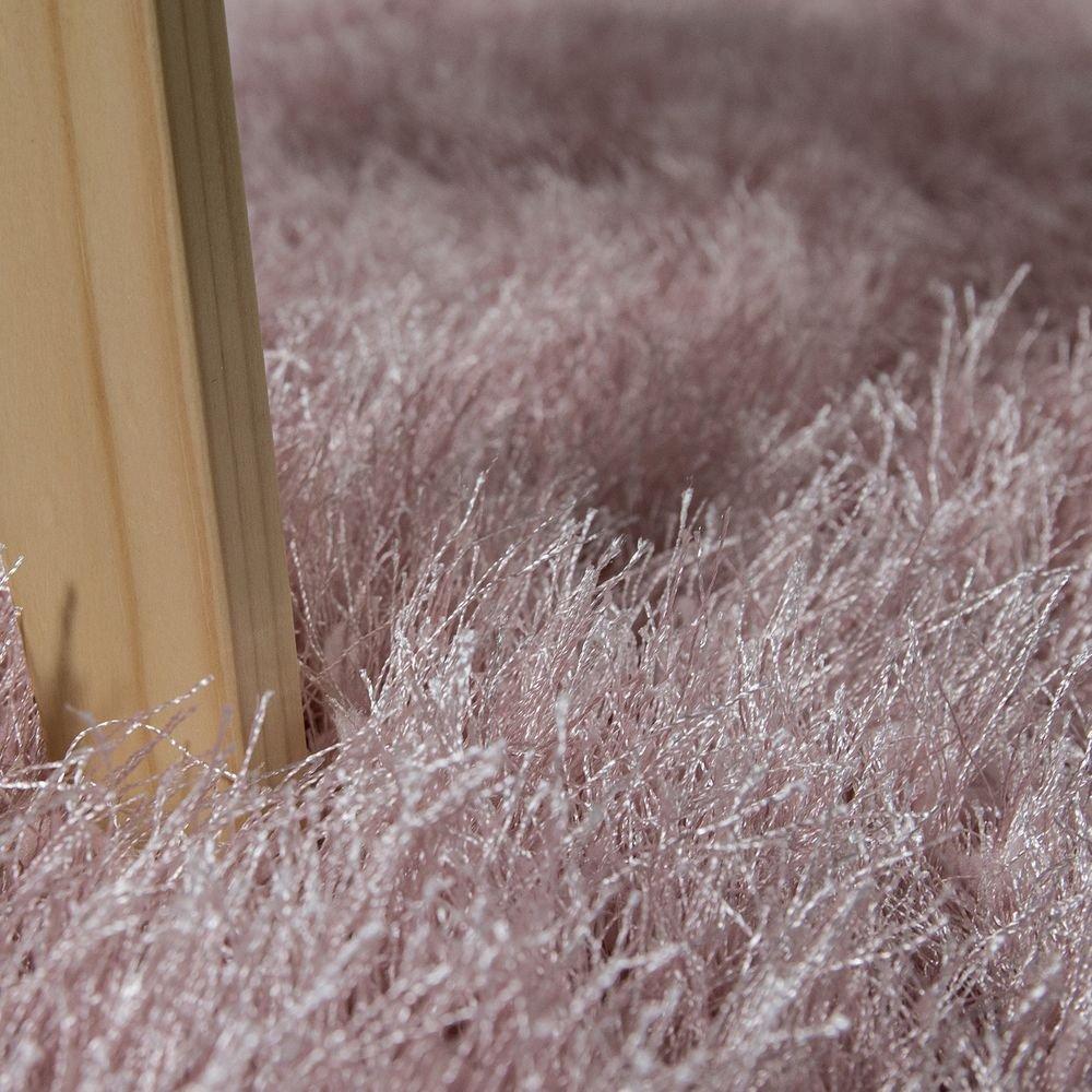 Moderner Hochflor Wohnzimmer Shaggy Hochflor Moderner Teppich Soft Garn In Uni Pastell Rosa, Grösse 120x170 cm 6b672a