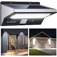 OUSFOT Luz Solar Exterior LED Foco Solar Exterior con Sensor de Movimiento Lámpara Solar Impermeable 3 Modos Gran Ángulo…