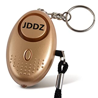 JDDZ Personal Safety Alarm, 140 db Safe Siren Song Emergency Self Defense Protection Device Anti Rape/Anti Theft Security with Mini LED Flashlight for Women, Kids and Elderly, Gold