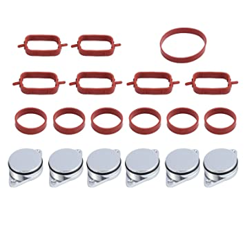 5044d3d29 Justech 6Pcs 22mm Diesel Swirl Flap Blanks Replacement Bungs Repair Delete  Kit with Intake Manifold Gaskets