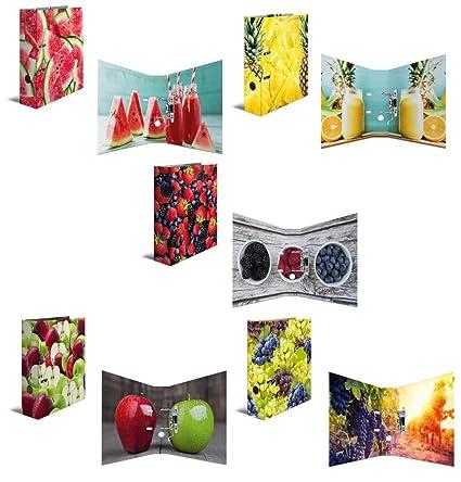 "5 Varios Diseño Carpeta ""Frutas/DIN A4/70 mm ..."