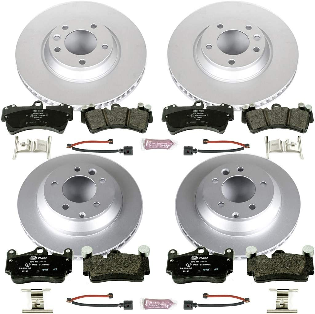 Front+Rear Drill Slot Brake Rotors /& Ceramic Pads For 2009-2011 Audi A4 A5 Q5