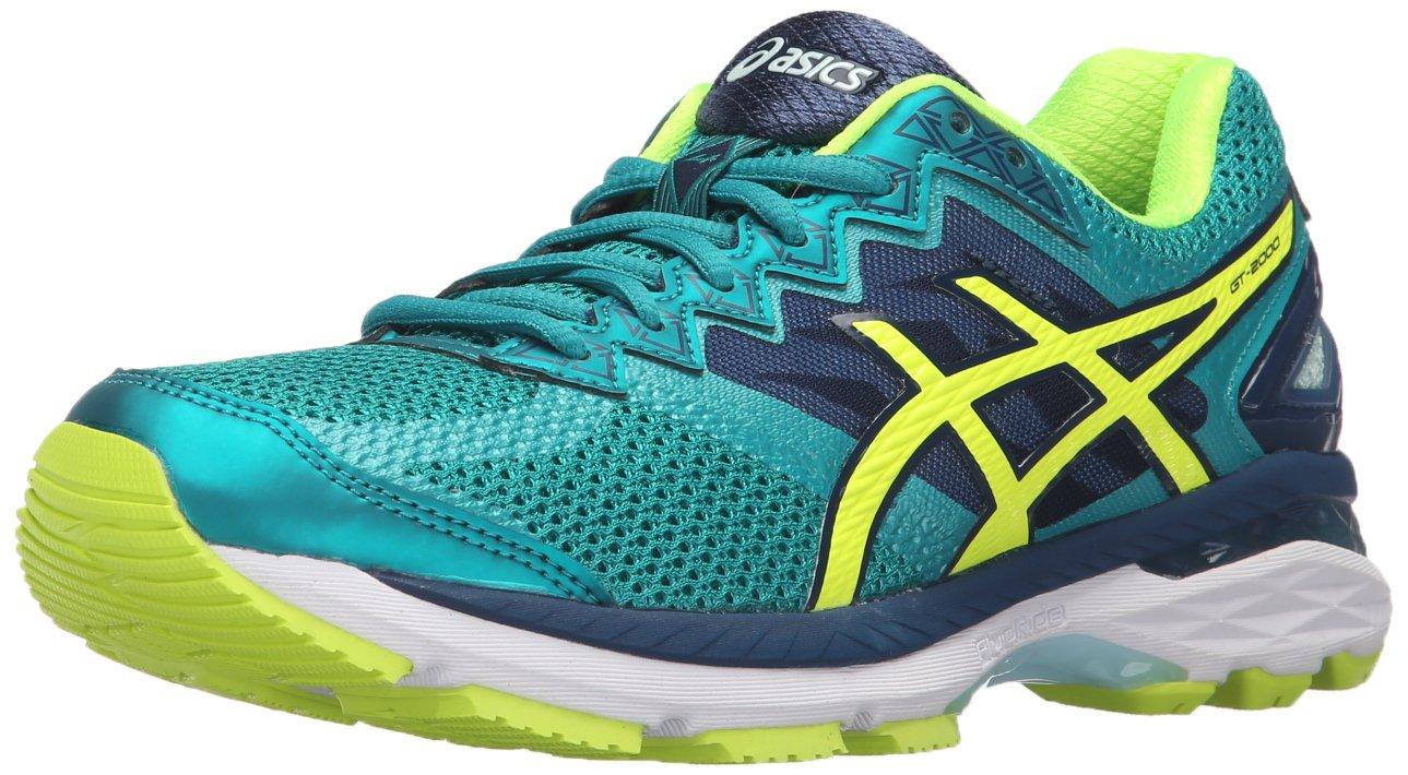 ASICS Women's GT-2000 4 Running Shoe B017USSPT2 5 B(M) US Lapis/Safety Yellow/Soothing Sea