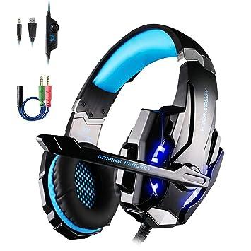OCDAY G9000 Auriculares Cascos Gaming de Estéreo con Micrófono y Puerto Jack de 3.5mm para