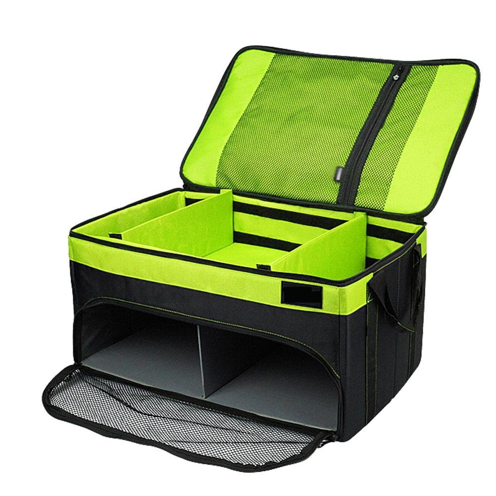 MQYH@ Car Storage Box Multi-Function Double-Fold Car-Mounted Box Two Layers of Storage Storage Box for Food And Drink, Clothing, Small Sports Equipment ,Shoes