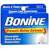 Bonine Motion Sickness Protection, Chewable Tablets, Raspberry 16 ea