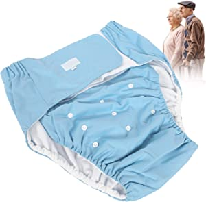 Adult Cloth Diaper, Washable Incontinence Diaper Adjustable Diaper Pants Adult Diaper Reusable Elderly Incontinence Nappy for Men or Women(#2)