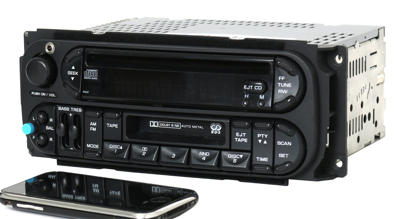 02 06 Chrysler Dodge Jeep Radio Amfm Cd Cs W Bluetooth Stereo Install Dash Kit Liberty 03 04 05 Car Wiring Aux Input P05091605ac Raz Sports Outdoors