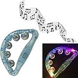 光る ハンドベル フレンドベル 発光LED タンバリン 楽器 おもちゃ クラブパーティー用 プレゼント