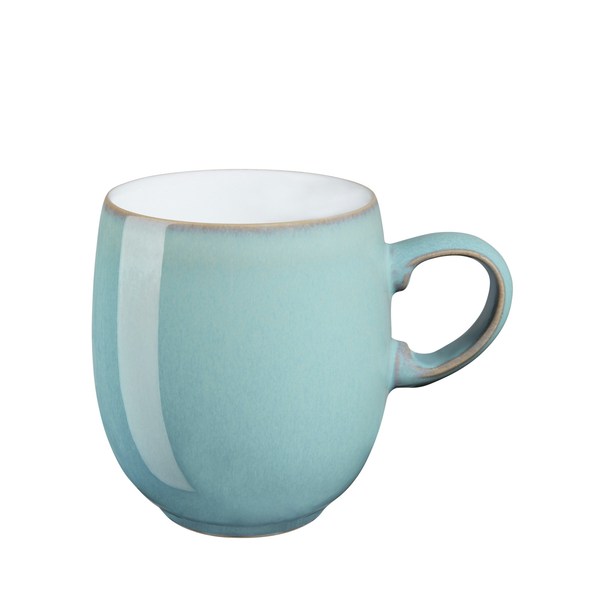 Denby Azure Large Curve Mugs, Set of 4