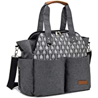 Lekebaby - Bolso cambiador de pañales para mamá y niña, diseño de flecha, color gris