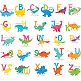 DECOWALL DS-8033 A-Z Dinosaur Alphabet Kids Wall Stickers Wall Decals Peel and Stick Removable Wall Stickers for Kids Nursery