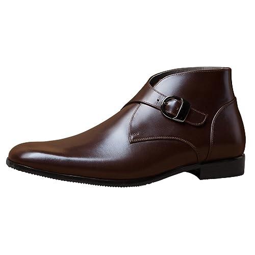 Amazon Com Itailor Men S Handmade Boots Dark Brown Chukka Boots