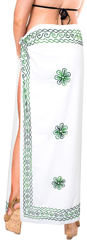 LA LEELA Rayon Aloha Bali Schal Kleid Strand Sarong solide