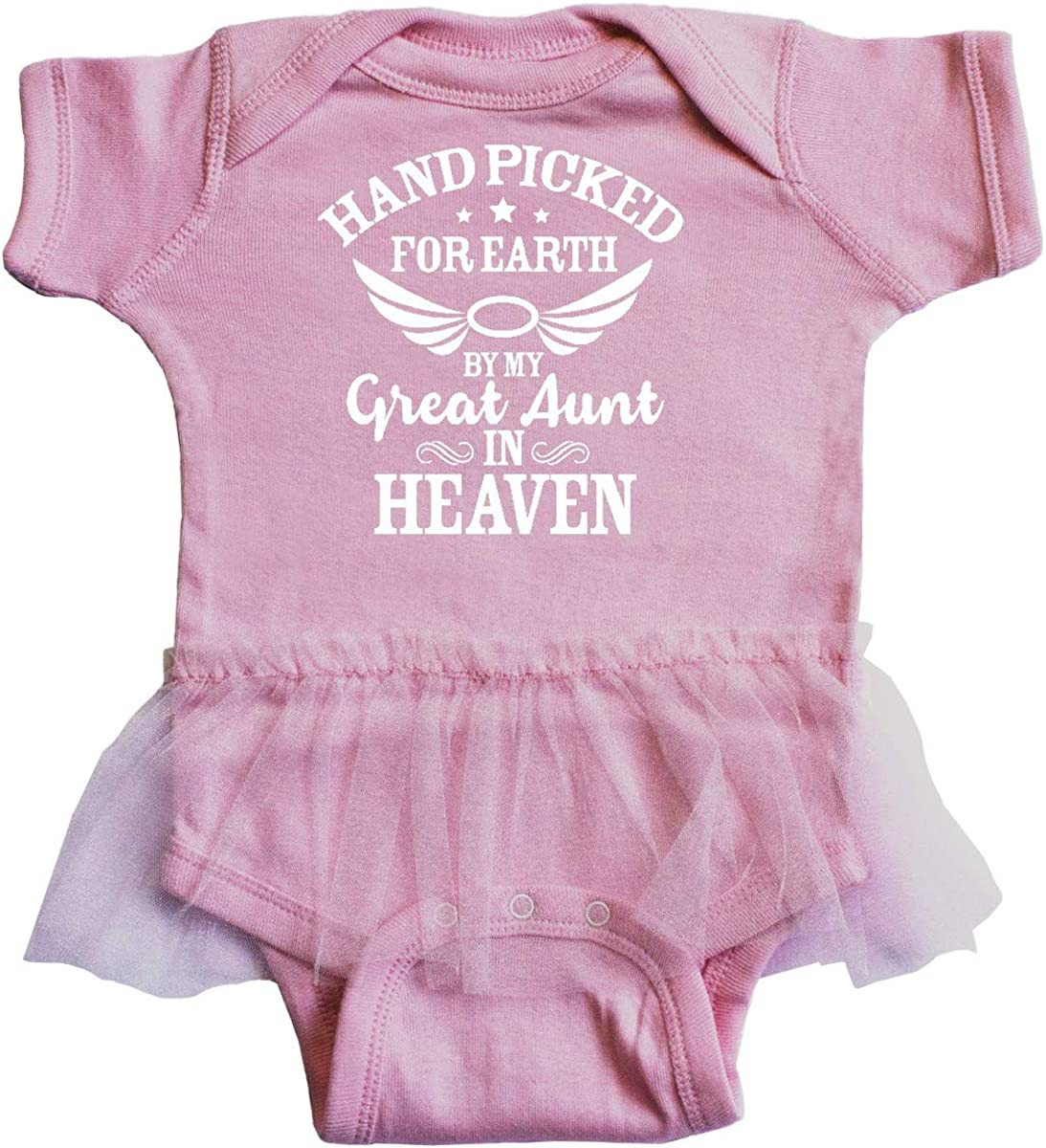inktastic Handpicked for Earth by My Great Aunt in Heaven Infant Tutu Bodysuit