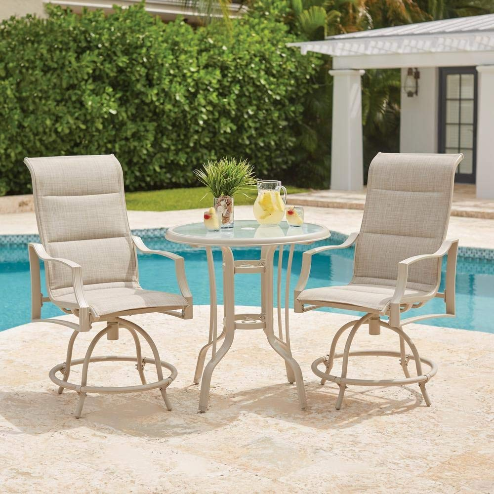 Statesville Shell 3 Piece Outdoor Balcony Height Dining Set 0708653347359 Amazon Com Books