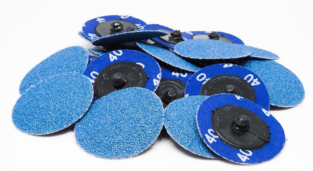 """2"""" Roloc Zirconia Quick Change Sanding Discs 80 Grit - 25 Pack 7114TkQ9GTL"""