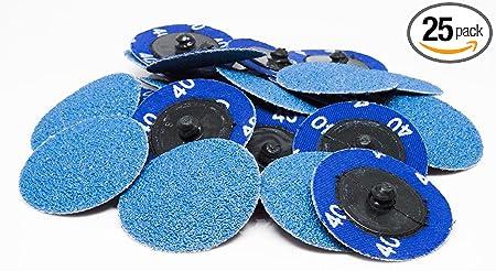 """25-2/"""" Roloc Zirconia Quick Change Sanding Disc 40 Grit"""