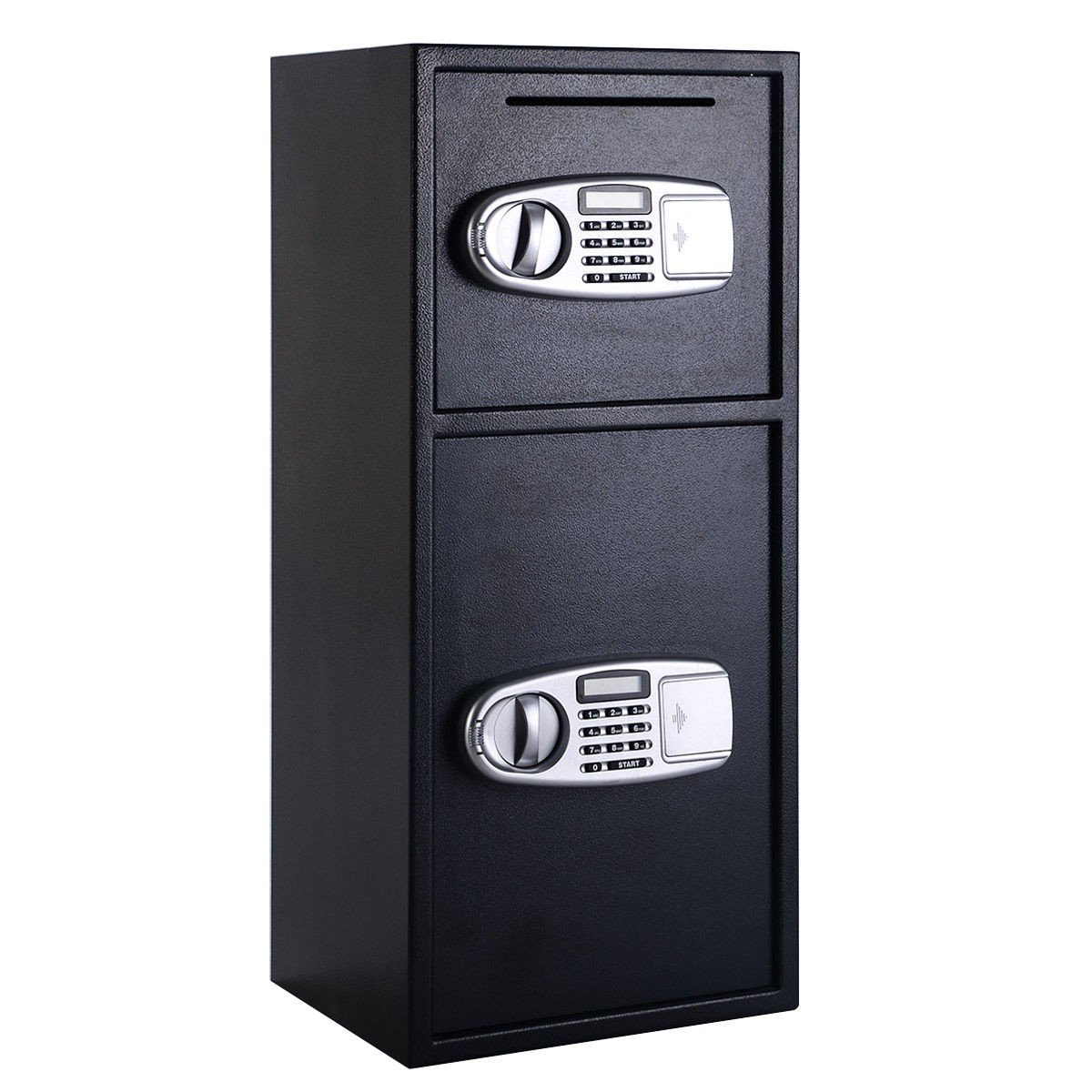 Double Door Digital Safe Depository Drop Box Safes Cash Office Security Lock New - Constructed with Solid Steel to Resist Hand and Mechanical Tool Attacks - Easy to Operate and Program