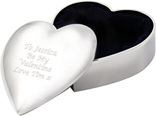 Personalised Engraved Heart Shaped Trinket Box pmc