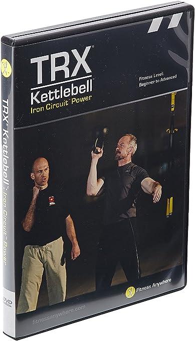 TRX KBDVD2/TU - Pesas rusas DVD de entrenamiento de potencia Iron Circuit, vídeo de 50 minutos de un doloroso entrenamiento por intervalos de alta ...