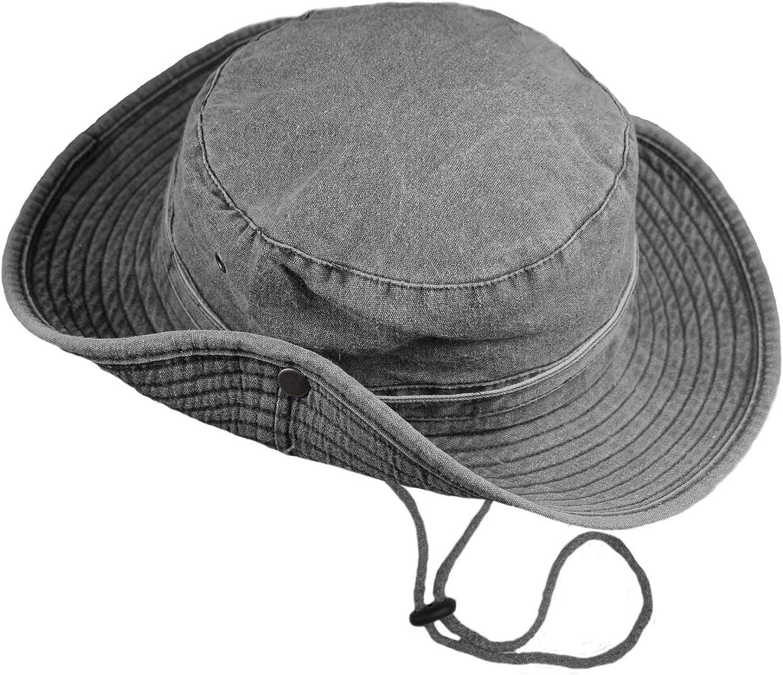 Side Press Studs and Air Vents Chin Strap Boys Kids Safari Outback Australian Style Cotton Bush Sun Protection Hat with Wide Brim TOSKATOK/® UPF 50