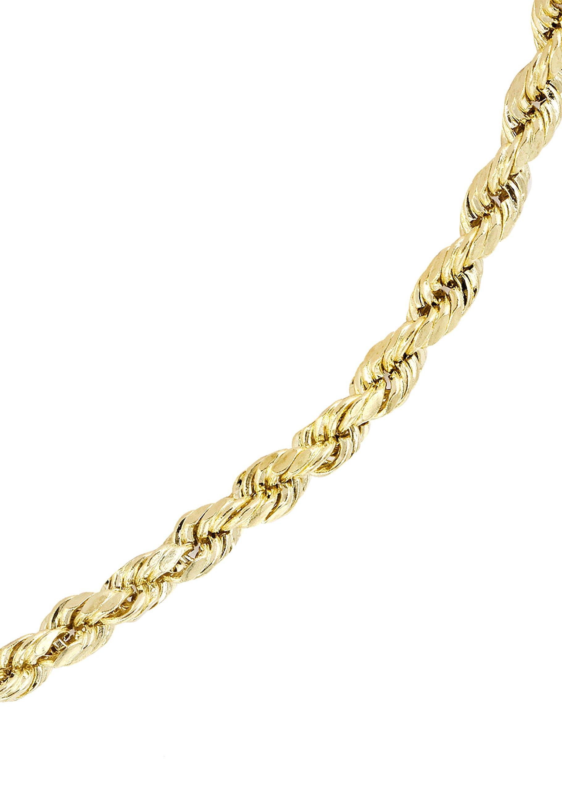 14k Gold Rope Bracelet