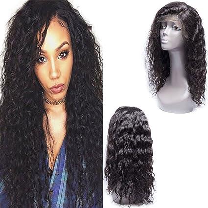 Maxine 8 un agua Wave Lace Front Peluca 130% densidad brasileño Remy Cabello humano pelucas