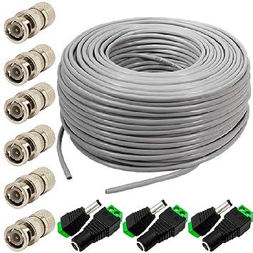 Cable de cámara HD LINE de 100 m - CCTV RG59 / Cable coaxial ...