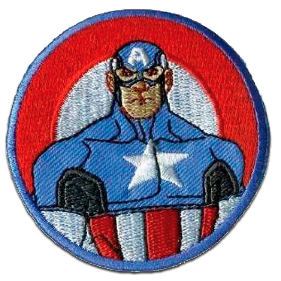 Ecusson 6 x 6 cm by Marvel/© catch-the-patch/® patches brode appliques embroidery thermocollant Avengers Les Vengeurs Captain America 2 color/é