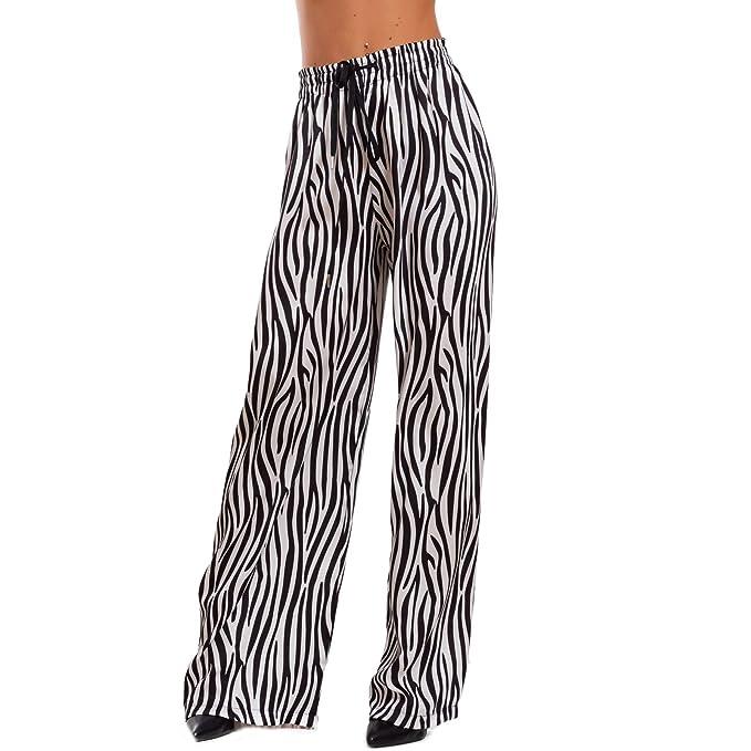 Zebrati zebrato Unica Ampi Laccio Palazzo Toocool Animalier itAbbigliamento Donna Harem Pantaloni Gi 8018taglia BianconeroAmazon Zebra qpUSzMV