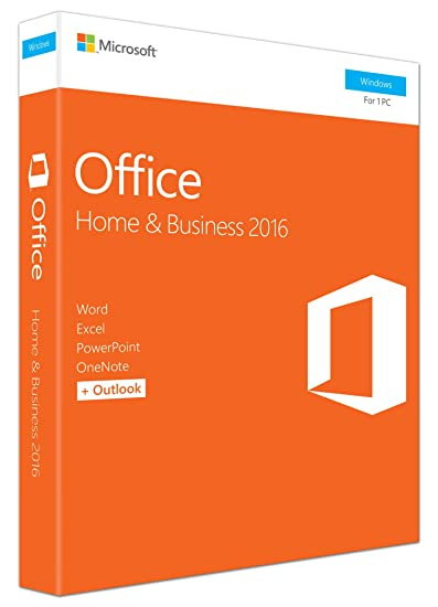 Microsoft Office Home and Business 2016 for Windows 7,8,10 (32Bit/64Bit)  with Media DVD Format (Word, Excel, PowerPoint, OneNote, Outlook 2016) for  1