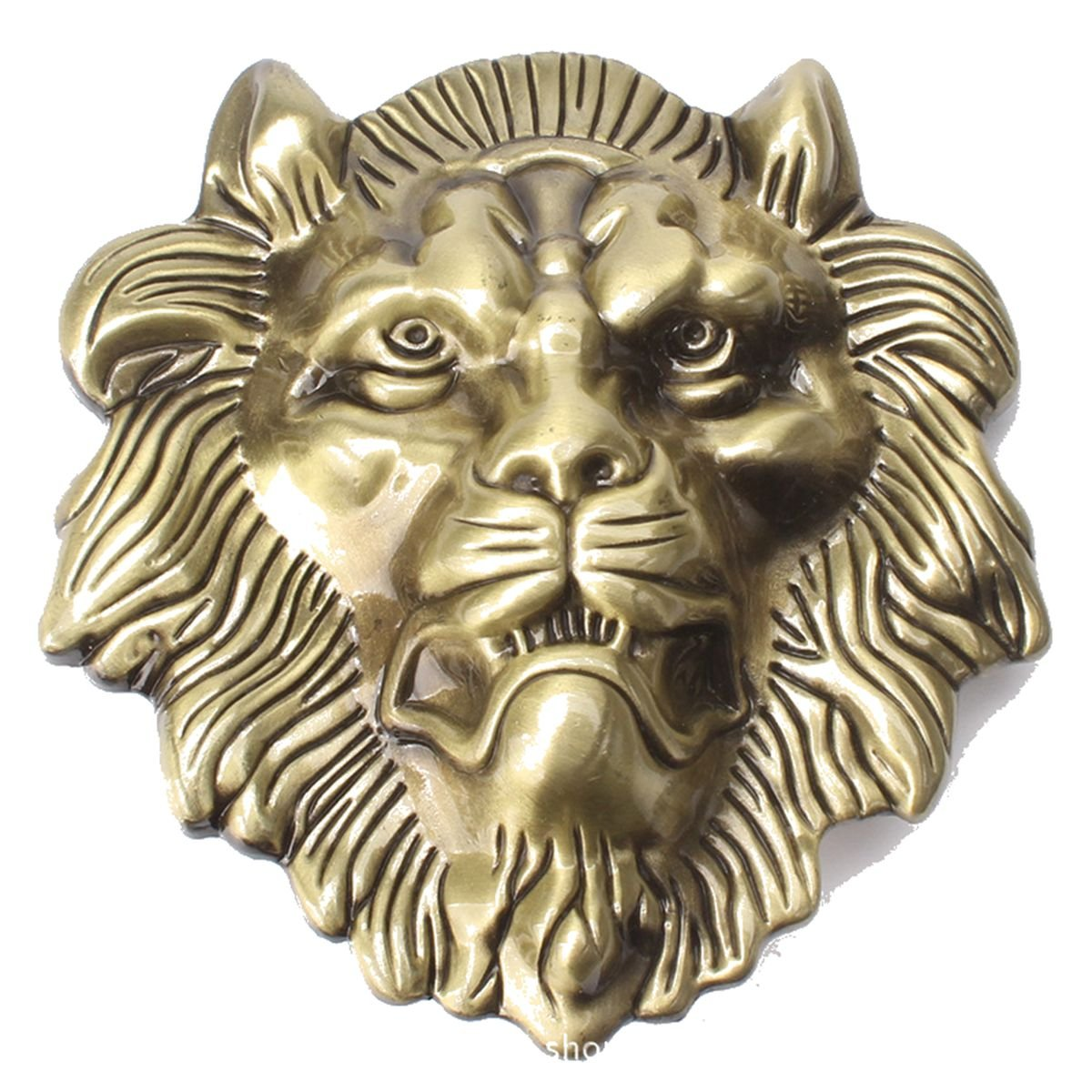 Belt Buckle in Lion Head Western Cowboy (HLN-01-G-CN) Sea Stone