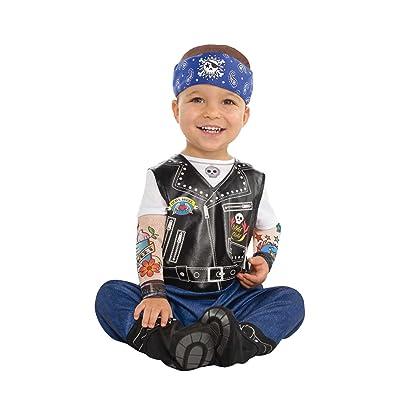 Amscan Dress Up 9900882 - Disfraz de Motero para bebé, Color no sólido, 12 - 24 Meses: Juguetes y juegos