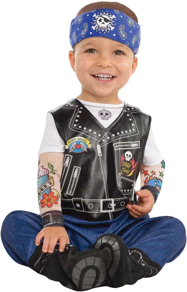 Amscan Dress Up 9900881 - Disfraz de Motero para bebé (6-12 Meses ...