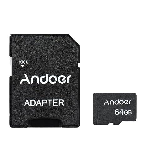 Andoer 64 GB Tarjeta de Memoria Micro SD Clase 10 Tarjeta TF ...