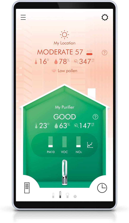 Luftreiniger-Handy-App-Bedienung-Anzeige-Luftqualität