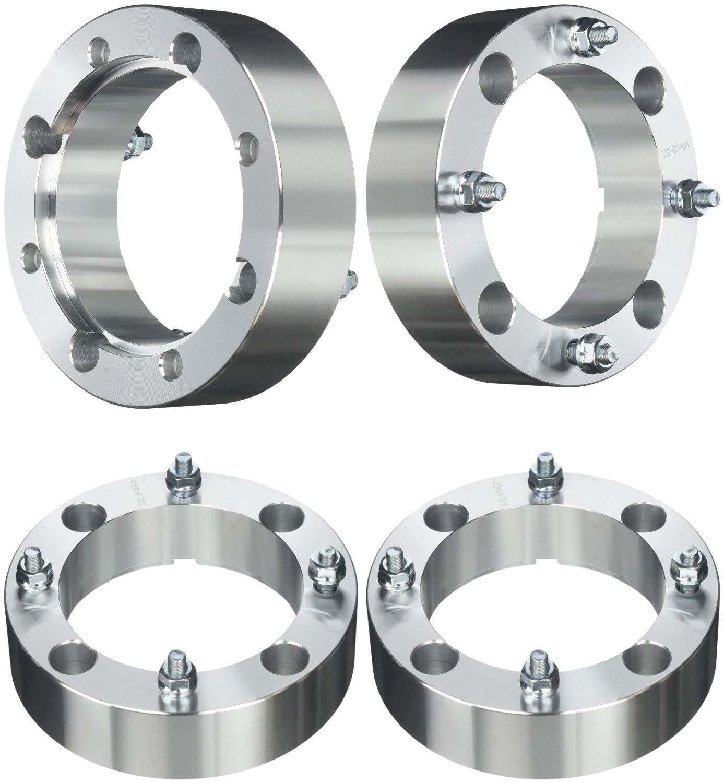 FAS Motorsports 4x156 Wheel Spacers 2'' inch (50mm) for Kawasaki, Polaris, Yamaha, ATV, UTV(131mm bore, 3/8''-24 Studs & Nuts) (4-Pieces)