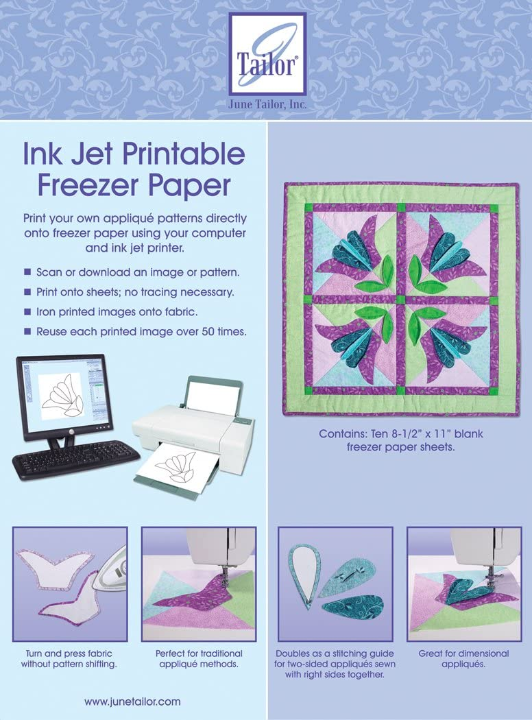 June Tailor 8-1/2-Inch by 11-Inch Ink Jet Printable Freezer Paper, 10-Pack: Amazon.es: Juguetes y juegos