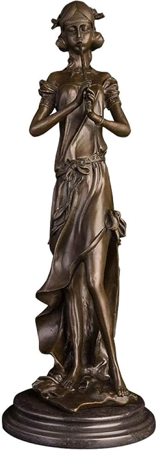 Statues Sculptue Sculptures,Office, Table and Desktop Decor sculpture Collectible Figurines Statues Bronze black musician bust music performer character sculpture for home decoration accessories