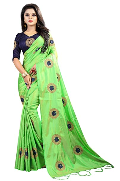 98b18fa5828 Source · Online Bazaar Women s Paper Silk Embroidered Saree with Blouse  Piece