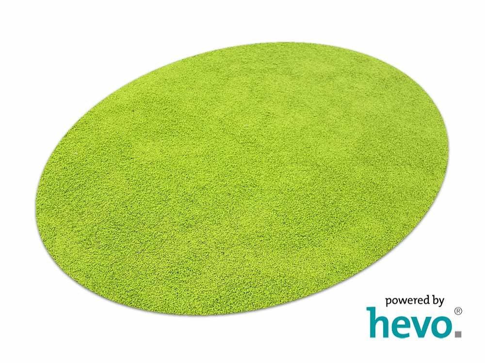 Fiji grün HEVO® Hochflor Shag Teppich   Kinderteppich 200 cm Ø Rund  125x195 cm Ellipse