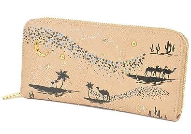 028554869f44 ベージュ/アラビアン F (ディーループ)D-LOOP ビジュー & 刺繍 ロング ウォレット