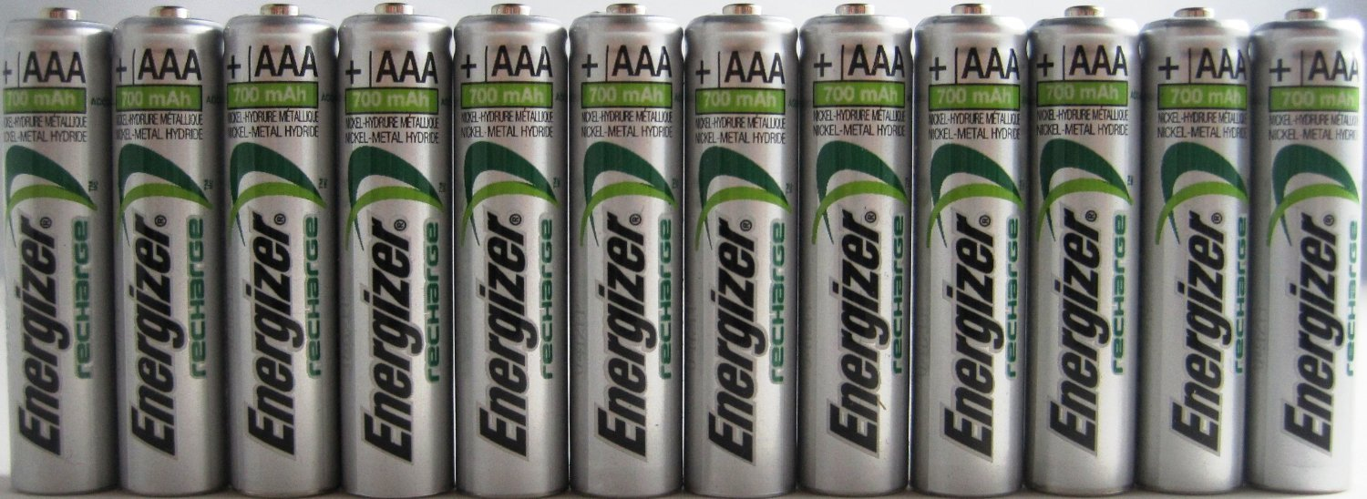 Pack of 20 Energizer NH12 800 mAh NiMH AAA Pre-Charged Rechargeable Battery - Bulk Pack
